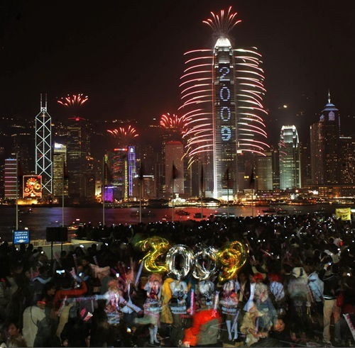 Silvester in Hong Kong