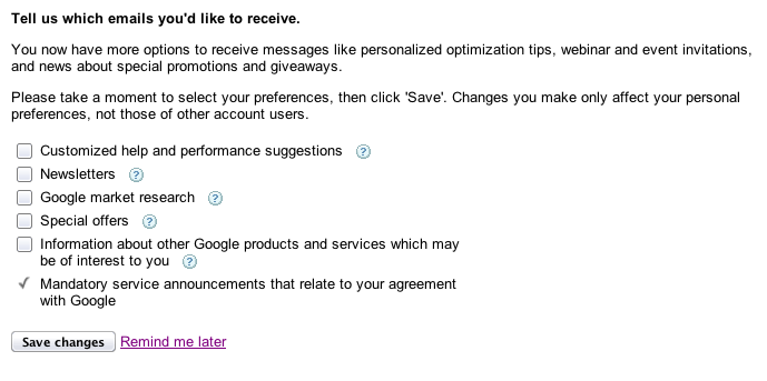 Google Adsense Spam EMails