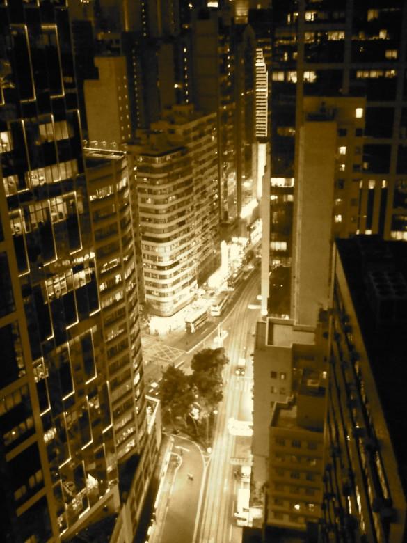 Wan Chai bei Nacht