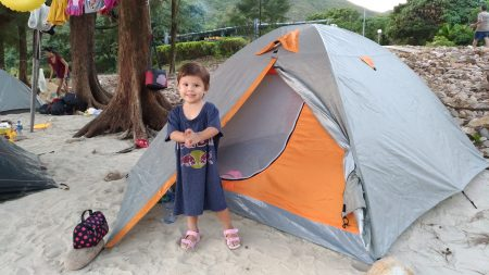 Wochenend-Camping in Hong Kong